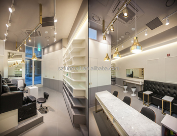 Customized nail bar design for shopping mall, manicure tables nail bar station