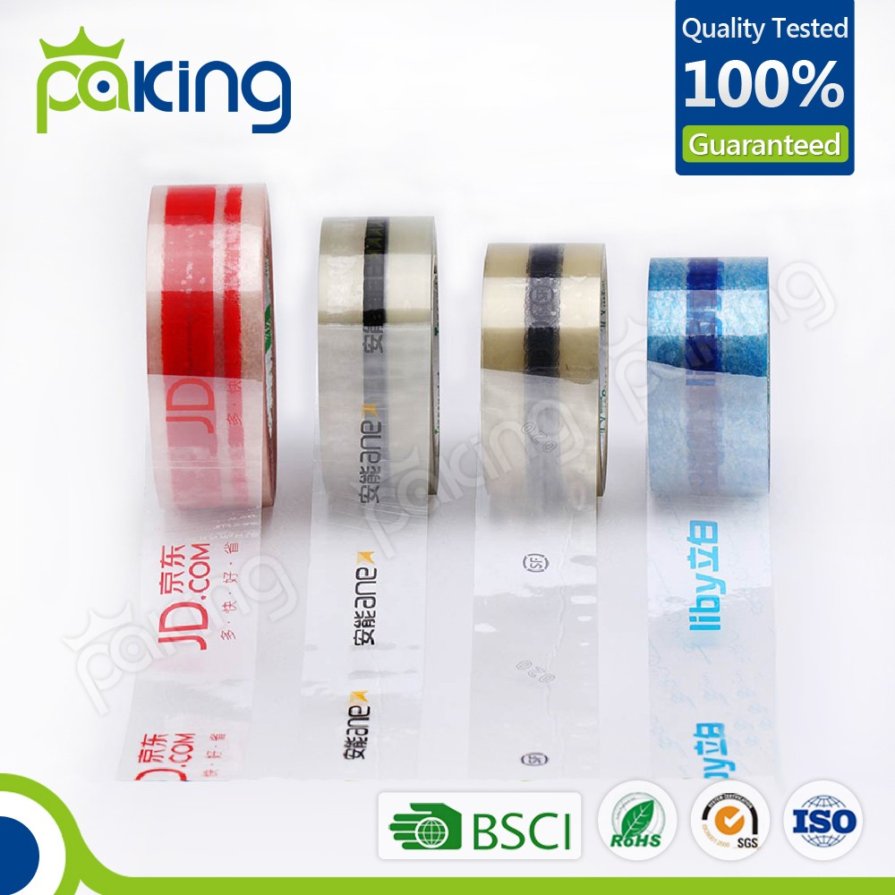 customized printed bopp packing tape with label for advertisement