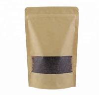 Pla Custom Disposable Coffee Packaging Kraft Paper Tea Bag With Zipper Coffee Packaging