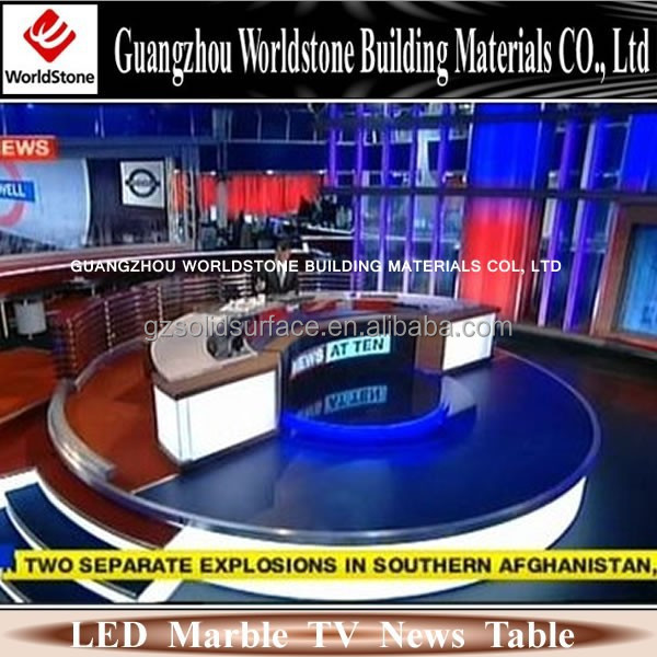 high quantity used tv news desk/furniture