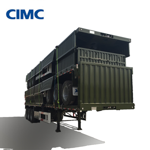 CIMC 3 Axles Side Tipper Dump Trailer / Sidewall Bulk Cargo Semitrailer
