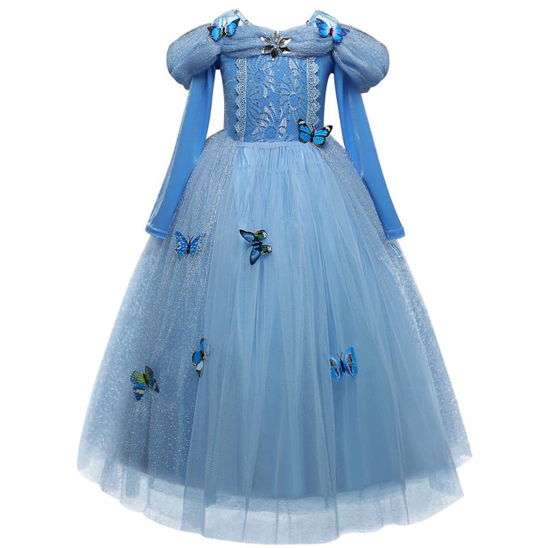 Cinderella Prinzessin Kleid Für Mädchen Tragen Halloween Dornröschen ...