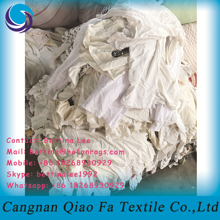 Waste T Shirt Cloth Material Cut Pieces Rags For Factory Printing ...