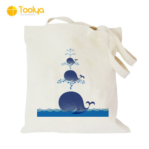 Wholesale recycle shopping promotional logo printed standard size canvas tote bag