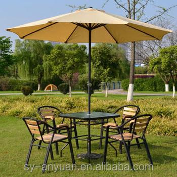 General Use Restaurant Garden Sun Umbrella Wall Mounted Straight Parasol