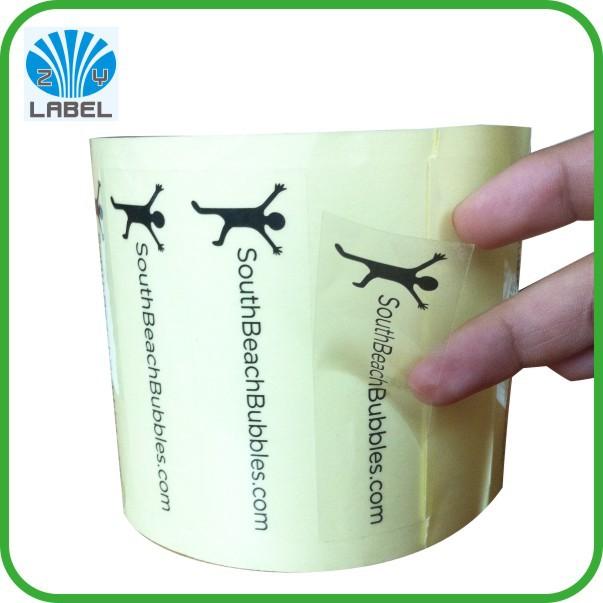 Permanent Adhesive Vinyl StickerPrinted Transparent Vinyl Sticker - Custom die cut vinyl sticker