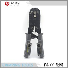 LY-T023 Hot Stripping Round Cable RJ11 RJ45 Network Lan Cable Crimping Tool Crimper Cutter Crimp Tool with tester