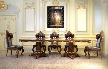 Esszimmermöbel holz  Fabulous Italien Barock Design Intarsien Esszimmer Möbel Königlichen ...