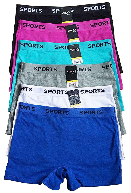 6 pieces Quality Gym Cotton Boy shorts Sports Panty S/M/L/XL(8898/8896)