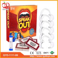 2017 new food grade PC material Mouthpiece Board Challenge Game speak out game
