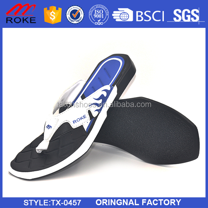 Man PE Sport Slipper with Simple Printing Design from Jinjiang Factory
