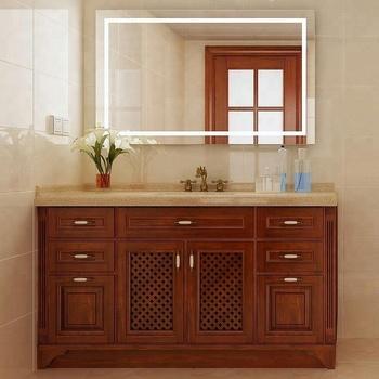 Customized Elegant Wooden Mirror Bathroom Vanity Cabinet Product On