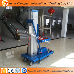 6m height Hydraulic aluminium tower mobile lift,Mobile aluminum man lift/electric lift ladder