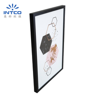INTCO home decoration waterproof memorial wall framed art gold stamping picture frame