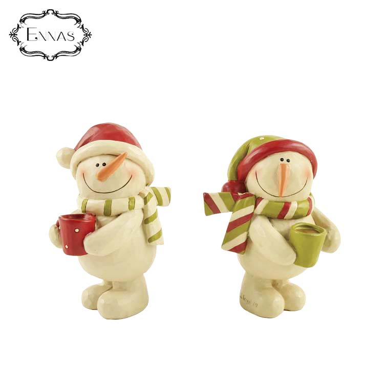 Christmas Nativity Set Resin Cartoon Snowman Figurine Decoration