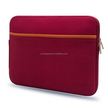 13'' neoprene laptop case sleeve bag with accessory pocket