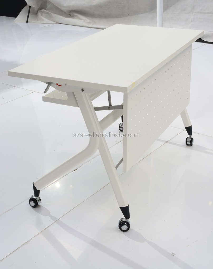 Movable Office Training Tableschool Traing Table Castorwooden
