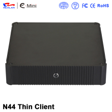 Ultra thin client computer case mini itx pc with 8gb ram and 512gb ssd for core i3
