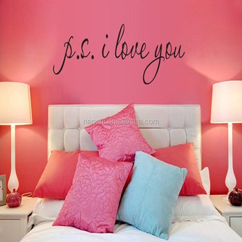 Ps I Love You Wall Decal Famous & Inspirational Quotes Art Living Room  Bedroom Rearede Removable Vinyl Wall Stickers - Buy Ps I Love You Wall ...