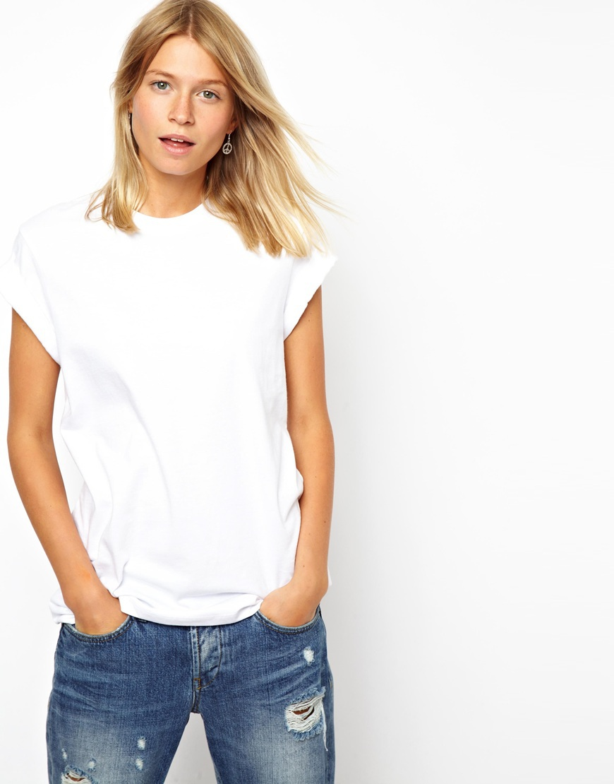 White t shirt for womens - Simple Blank Women T Shirts In White