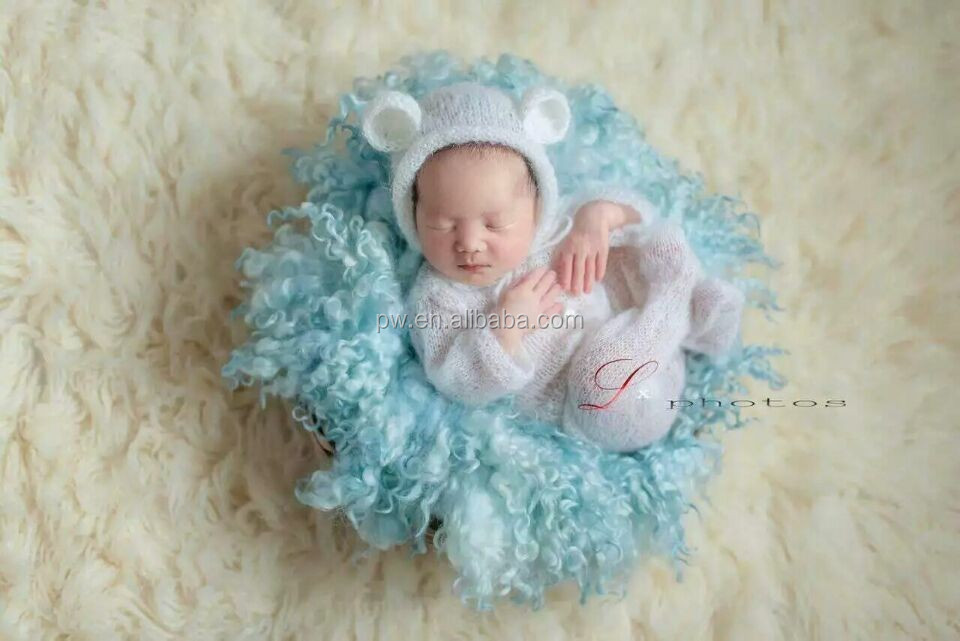 Nette Baby Gesamt Neugeborenen Outfit Gestrickte Mit Kapuze ...