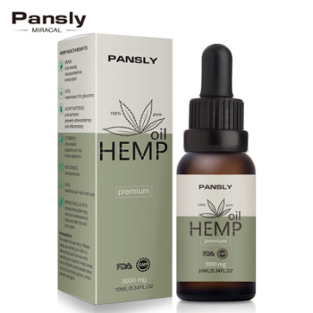 Private Label PANSLY Skin Care Moisturizing Face Body Massage 100% CBD Hemp Oil