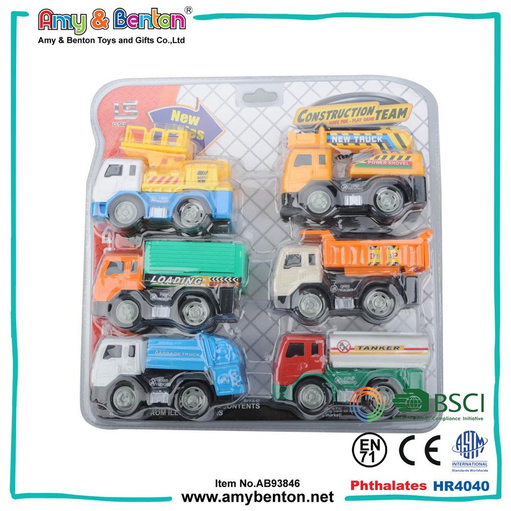 China toy factory kids mini toy plastic construction trucks