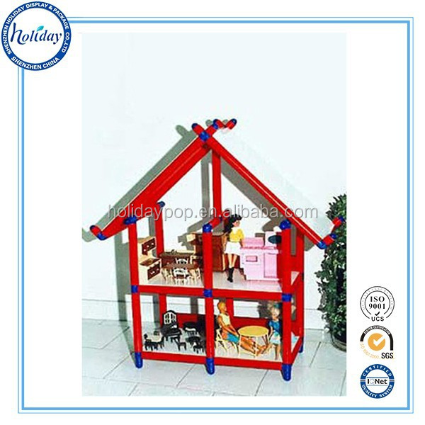 Cardboard paper house for kids cardboard toys display stand