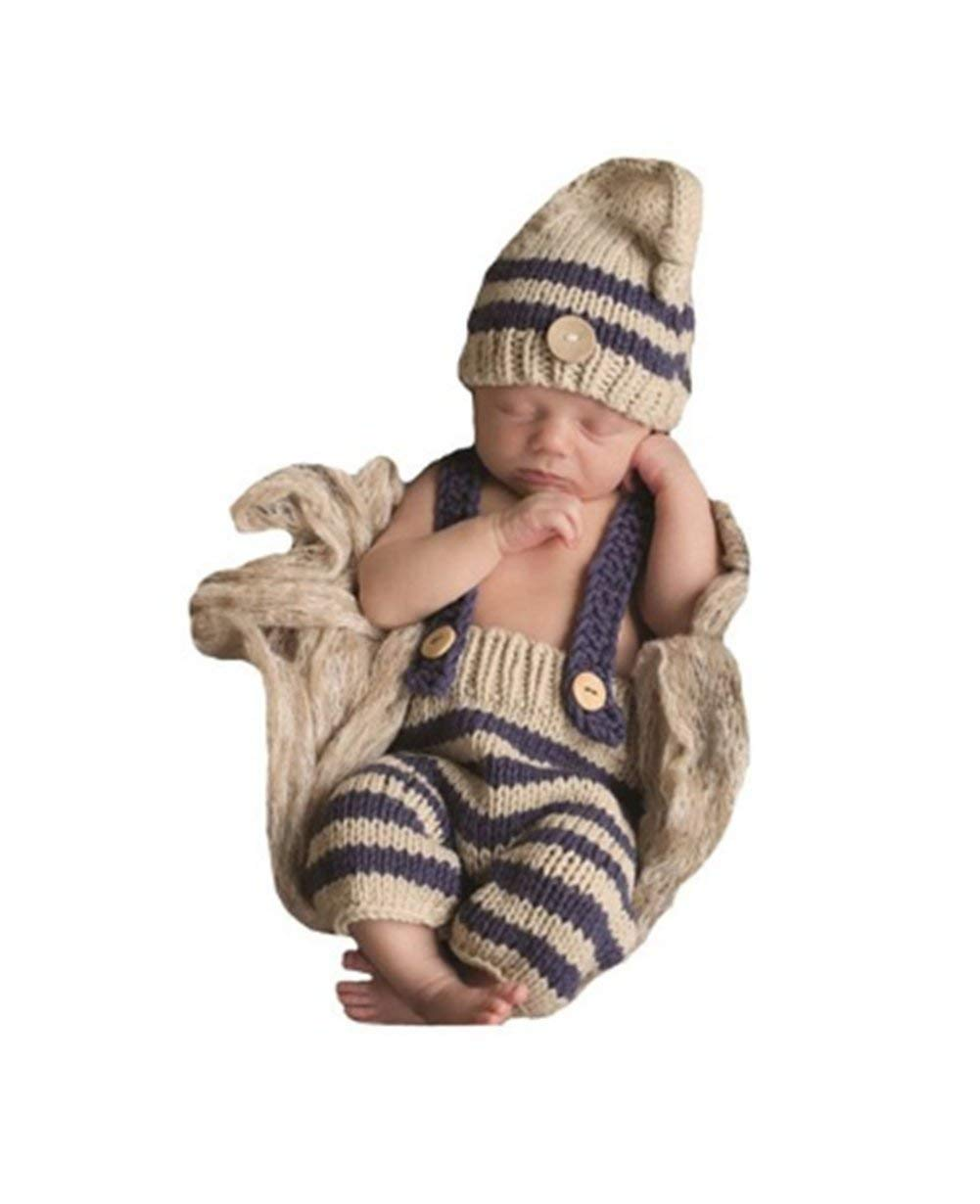 149b1fc1015 Buy Eyourhappy Baby Newborn Handmade Crochet Knitted Photography Props Boy  Stripe Hat Pants Overalls in Cheap Price on m.alibaba.com