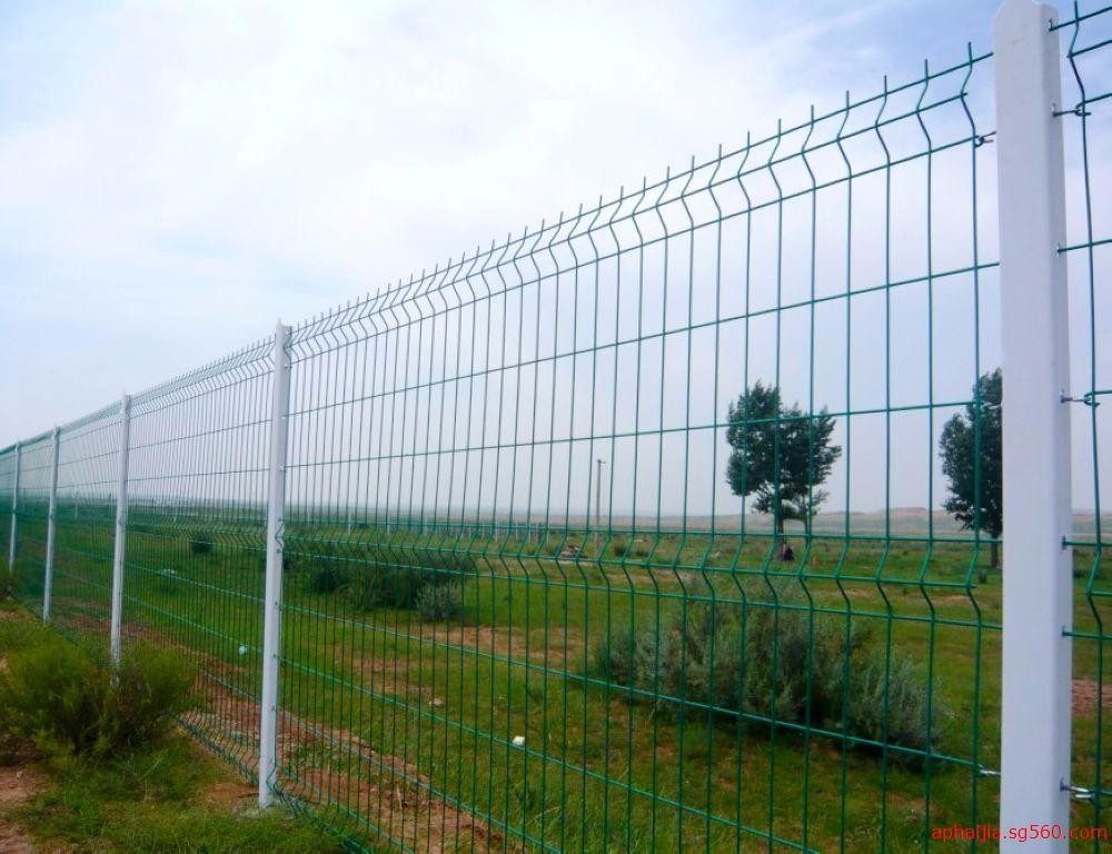 Powder coated galvanized d welded mesh panel fence pvc
