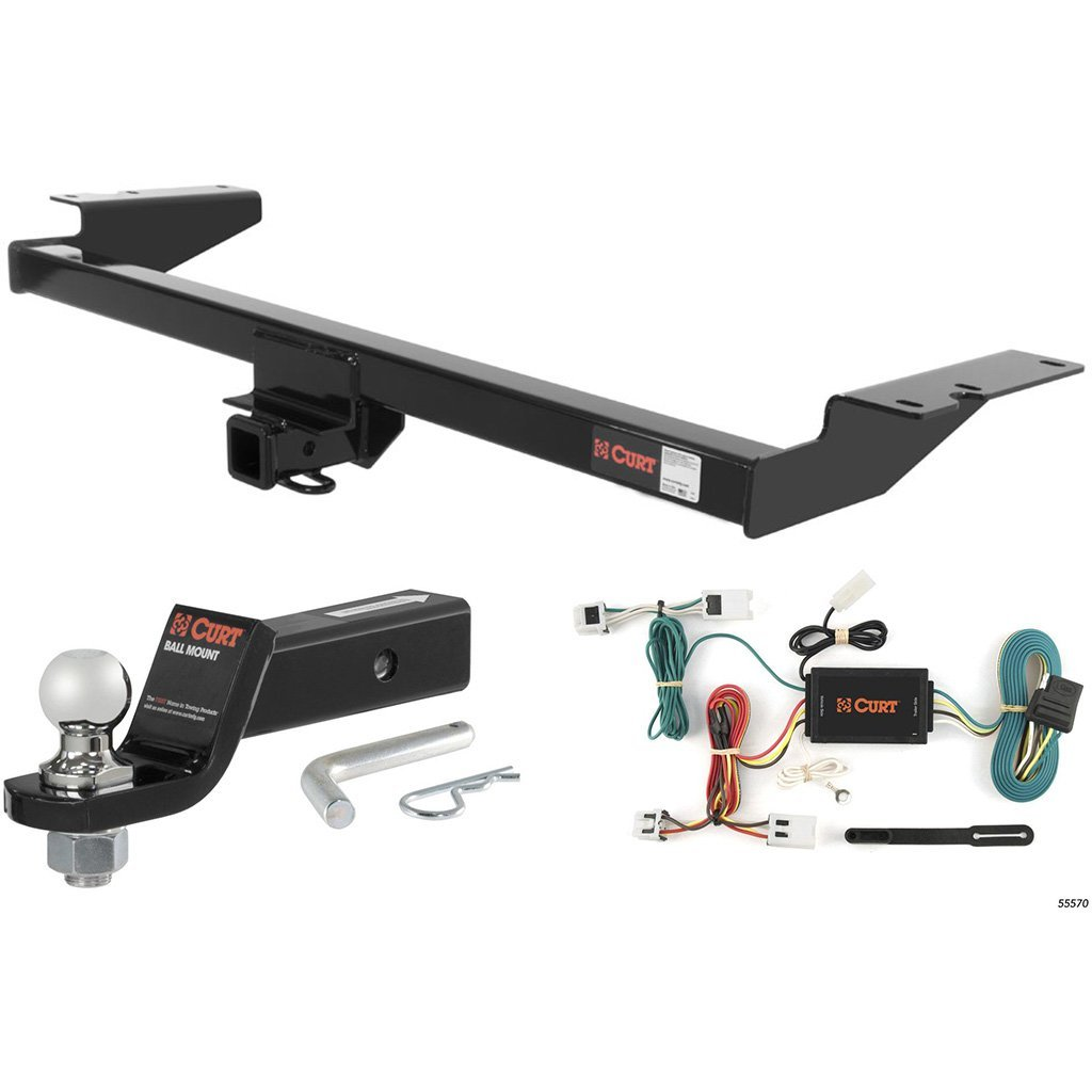 """CURT Class 3 Hitch Tow Package with 1-7/8"""" Ball for 2004-2009 Nissan Quest"""