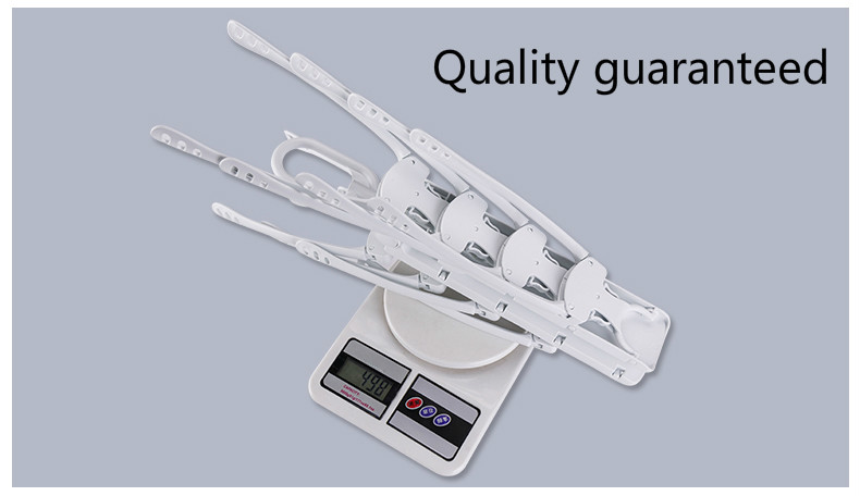 Multifunctional folding magic adjustable cloth rack plastic clothes hanger