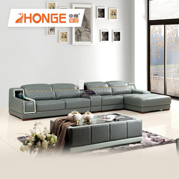 Living Room Furniture L Shaped Leather Corner Sofa Bed With Multifunction  Table - Buy Leather Corner Sofa,Corner Sofa,Corner Sofa Bed Product on ...