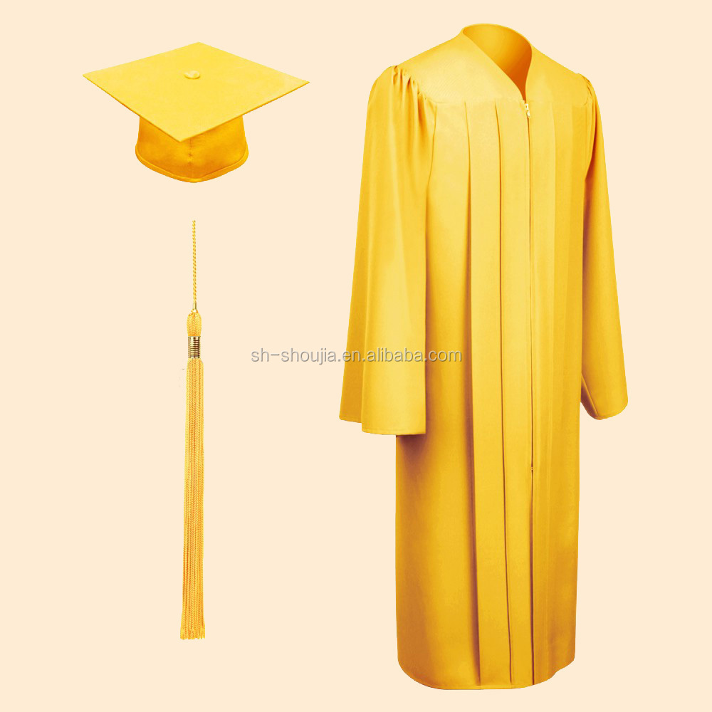 Matte Gold Bachelor Cap,Gown & Tassel - Buy Matte Gold Bachelor Cap ...