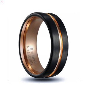 Fashion Jewelry Black plated Matt tungsten mens claddagh carbide rings Wholesale