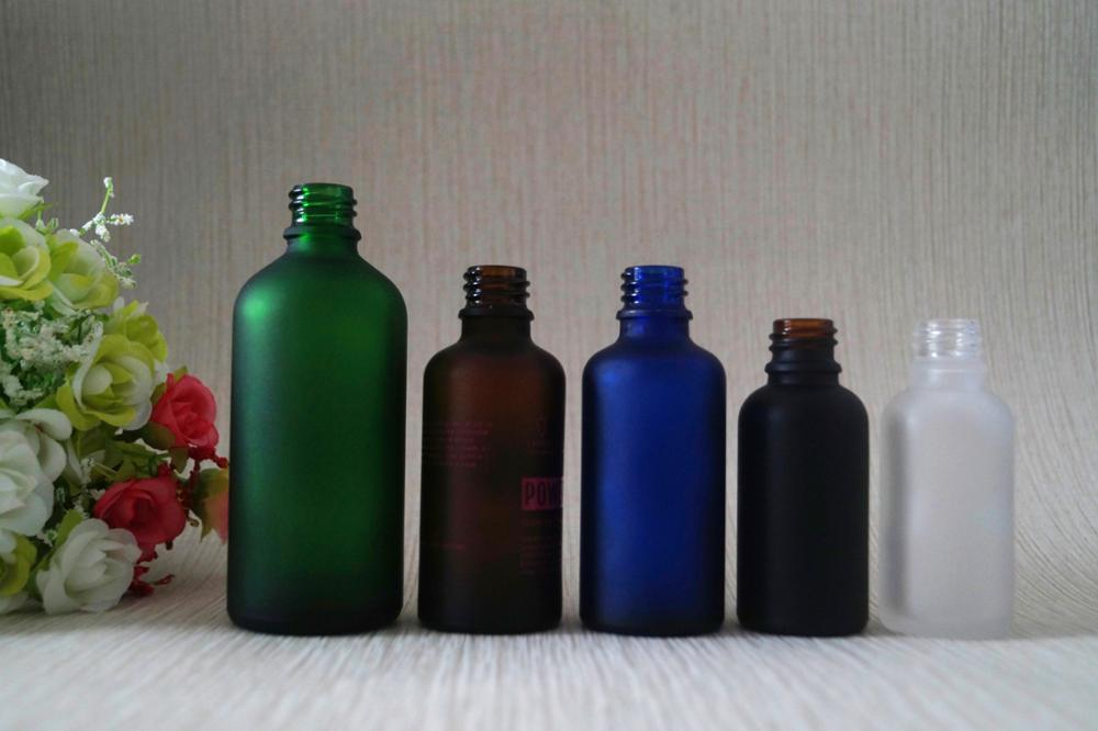Chinese manufacturer matte amber glass dropper bottle with
