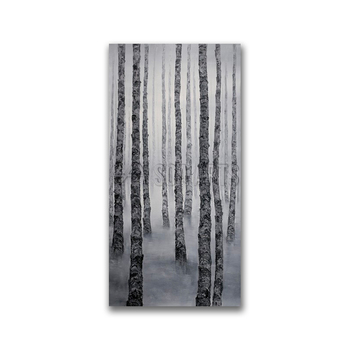 Modern Forest Simple Painting on Canvas for Hotel