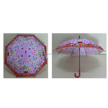 Beautiful frilled lady's POE dome shape umbrela/ transparent lover's umbrella