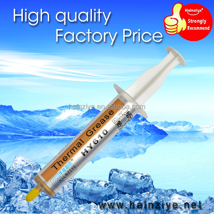 First choose gold thermal grease heatsink compound paste with performance for CPU/VGA/LED cooler