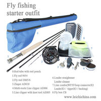 IM6 carbon fly fishing rods and reel combo