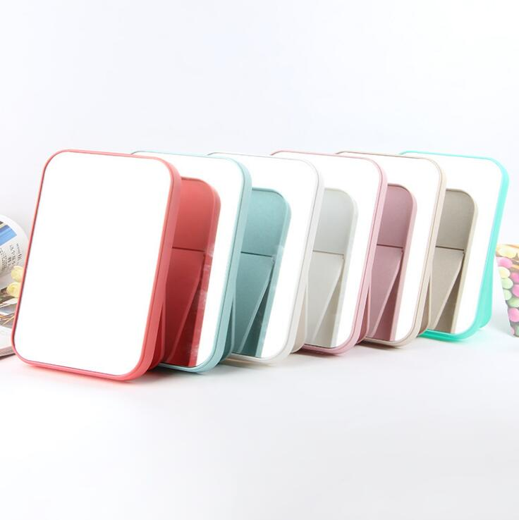 Foldable table mirror promotional makeup mirror square shape foldable table mirror for girls