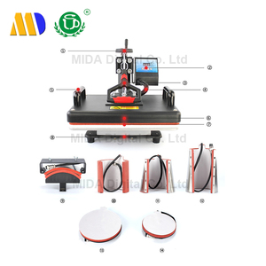 MIDA best selling 8 in 1 Sublimation Heat Press Machine with Shaking Heads