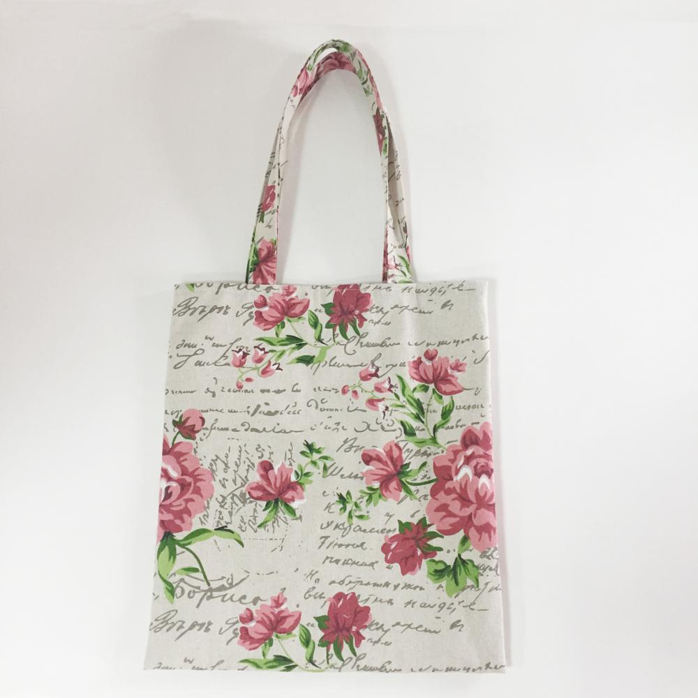 reusable cotton canvas tote grocery bag with custom logo printing