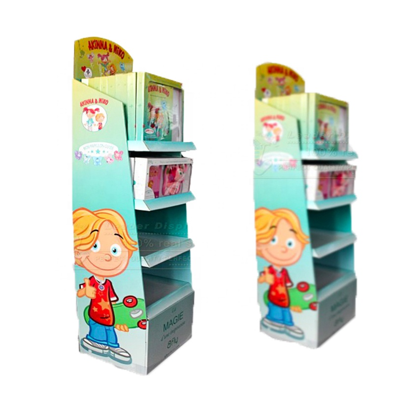 Retail beauty stationery store display rack for pen or books