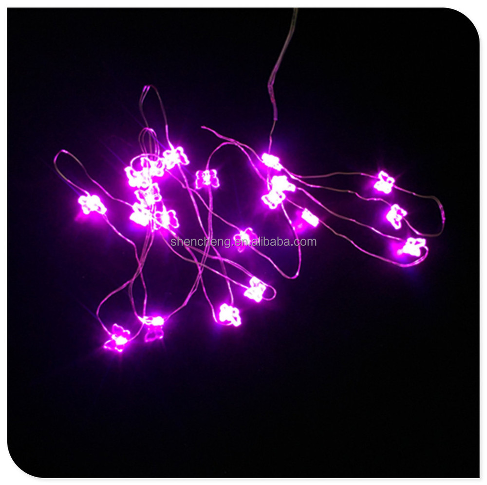 Purple Color Small Butterfly Copper Wire Battery Operated Led ...