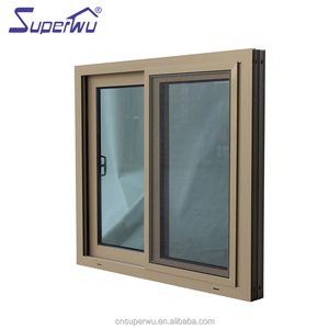 AS2047 window glass price low-E glass Aluminium double sash sliding windows for balcony