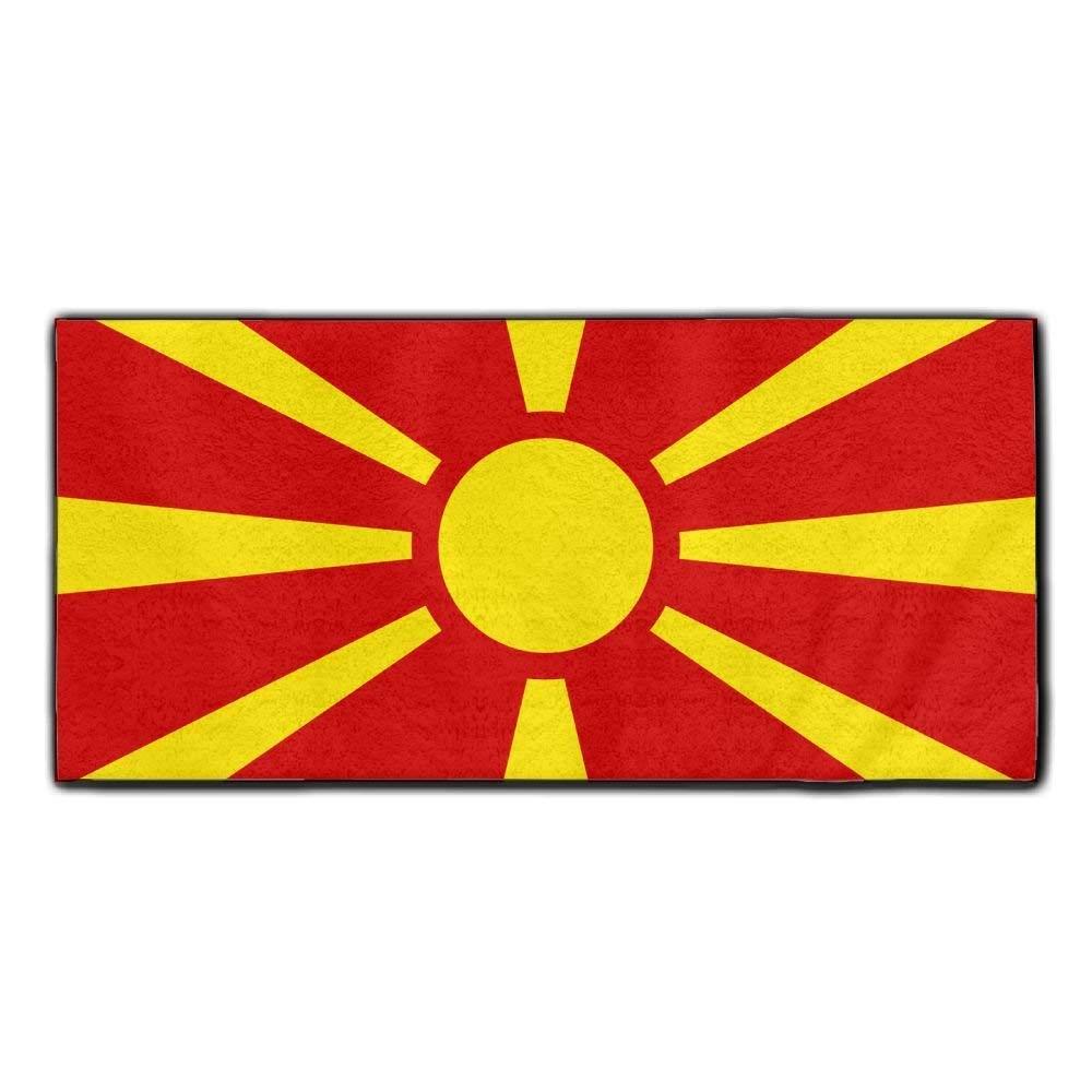 ChunLei Macedonian Flag Washcloths Face Towel Hair Care Towel Gym And Spa Towel Kitchen Dish Towel