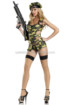 tall lady hot sale army costume brat women halloween costumes qawc 8897 - Halloween Army Costumes