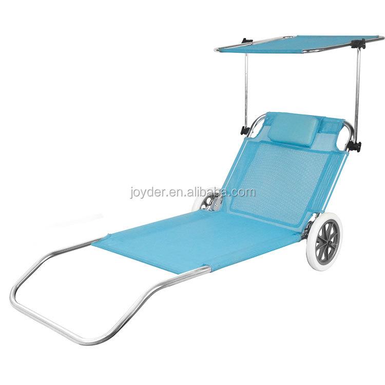 portable soleil l ger pliant lit de plage avec roues chaise pliante id de produit 60584812872. Black Bedroom Furniture Sets. Home Design Ideas