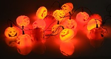 Outdoor Party bulb Pumpkin/Skull lighting Lamp String Strip Lights Halloween